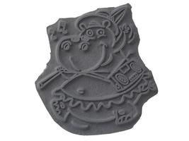 Your Next Stamp Henrietta the Hippo Unmounted Rubber Stamp #FB017 image 2