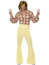 "1960's Hippy Guy Costume, Chest 42""-44"", 1960's Hippy Fancy Dress #AU - $48.85"