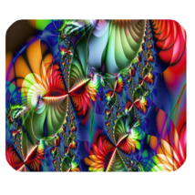 Mouse Pad Psychedelic Fractal Design Beautiful Abstract Flowers For Anim... - $171,76 MXN