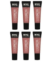 Lot of 6: NYC New York Color Lip Kiss Gloss Set in 531 City Sorbet (Sealed) - $19.79