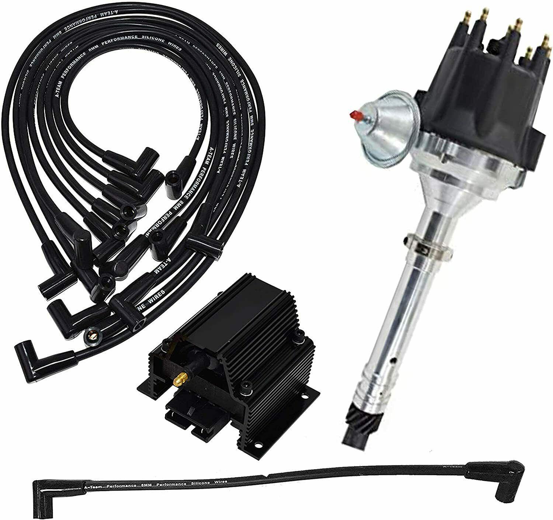 Chevy GMC SBC Pro Series R2R Distributor 262 283 327 350 400 8mm Spark Plug Kit