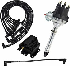 Chevy GMC SBC Pro Series R2R Distributor 262 283 327 350 400 8mm Spark Plug Kit image 1