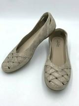 NEW Clarks Comfort Collection 9.5 Gracelin Maze Pewter Ballet Flats Shoes - $27.99