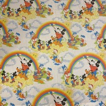 Vtg Walt Disney Flat Twin Sheet Pacific 64 X 90 Material For Clothes Or ... - $18.70