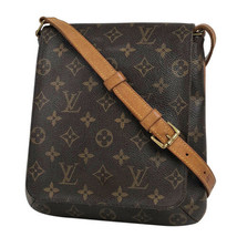 Auth Louis Vuitton Monogram Shoulder Bag Brown Leather PVC Inner Pocket ... - $480.15