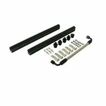 Black Aluminum Fuel Rail W Middle Pipe LS LS1 LS3 LS6 LSX Engine W Hardware Inc