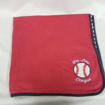 Gymboree All City League Baseball Baby Boy Blanket Navy Red White Stripe... - $46.52