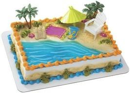 LUAU HAWAIIN BEACH Cake Decoration Topper Party Sand Cupcake Birthday Su... - $10.84