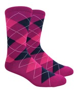 Urban-Peacock Men's Dress & Groomsmen Socks - Raspberry Argyle, Multi-Pa... - $9.95+