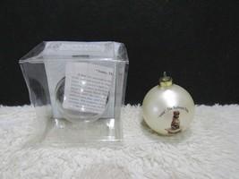 Kiwanis 2006, Annie The Railroad Dog, Glass Ornament - $10.25