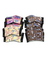 4 Lexees Flexees Snap On Toppers Shoe Top Lot - Multicolored, Brown Dots... - $22.95