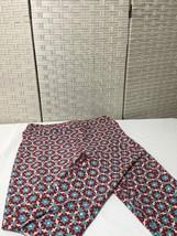 LulaRoe Tall & Curvy Tc Leggings Light Blue Red White Geometric Stars Nwot - $11.29