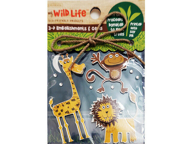 Colorbok My Wild Life 3D Animal Sticker Embellishments and Gems #55442