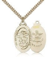 ARMY MEDAL - Gold Filled St. Michael the Archangel Medal Pendant - 4145R - $155.99