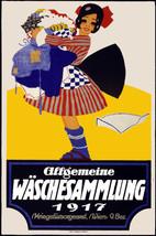 Vintage Art POSTER.1917 Dutch girl.Wall Room Decor.Interior Designer.824 - $9.90+