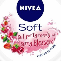 NIVEA Soft Light Moisturizer Berry Blossom With Vitamin E & Jojoba Oil, ... - $6.78