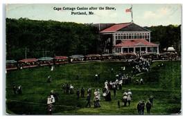 1914 Cape Cottage Casino after the Snow, Portland, ME Postcard - $9.28