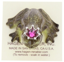 Hagen-Renaker Miniature Frog Prince Kissing Birthstone 10 October Tourmaline image 5