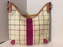 Coach Multi Color Leather Shoulder Handbag Purse A1069-F14789 - $34.65
