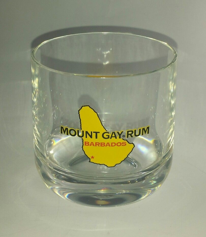 Mount Gay Rum Clear Plastic Drink Tumbler Cup Barware
