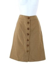 J Crew Bejeweled Button Front Wool Pencil Skirt Size 2 SAMPLE ONE OF A KIND - $137.99