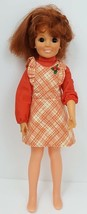 "Vintage 1969 Ideal 18"" Crissy Grow Hair Doll Red with Extra Dress Swirla... - $39.63"
