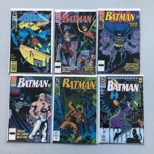 Lot of 6 Batman (1940) #465 467 468 469 485 503 VF Very Fine