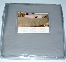 Sferra Alma Memoria Queen Duvet Cover Solid Blue Cotton Percale Italy New - $148.90