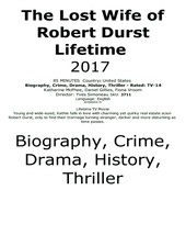 The Lost Wife of Robert Durst Lifetime 2017 #3711 TV Movie DVD - $2.29