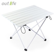 Outlife Camping Picnic Aluminum Alloy Folding Table(SILVER) - $34.70