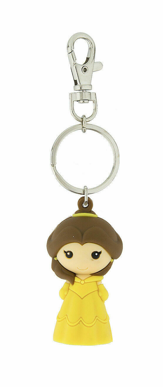 Disney Parks Belle Beauty and the Beast Kawaii Keychain Key Chain NEW - $12.19
