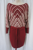 Jessica Simpson Dress Sz S Sundried Tomato Belted Sweater Knit Blouson D... - $58.26