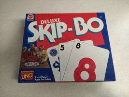 Vintage 1992 Uno Skip-Bo Deluxe Card Game Complete Mattel - $21.99