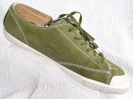 Tretorn Olive Green Unisex Size 10.5 Fashion Sneakers Leather Sneakers Shoes