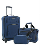 3-Piece Carry-On Luggage Set Expandable 4-Wheel Travel Suitcase Spinner ... - $49.67