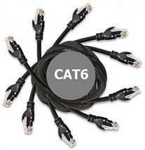 DynaCable Cat6 Ethernet Cable - 5 Foot / 5 Pack - Black- High Speed Inte... - $27.89