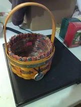 Longaberger Small Inaugural Basket - 1997 - Liner and Plastic Protector - $11.91