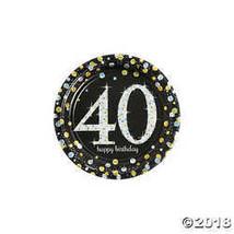 Sparkling Celebration 40th Birthday Paper Dessert Plates - $4.99