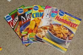Lot of 5 Pillsbury Classic Cookbooks Come & Eat Cookbooks - $14.00