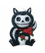 YTC 2.75 Inch Furrybones Odo Skunk Costume Holding Flowers Sitting Statue - $14.25