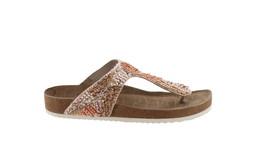 Sam Edelman Olivie 5 Embellished Thong Sandal GLD SATIN 8 NEW 598-745 - $74.23