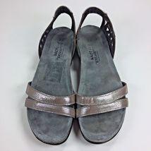 Bonnie Naot Silver Sz US Sandals Womens Thread Shoes EU Leather 40 8 Modified xrw1H0nrgU