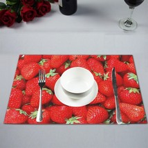 """(Set of 4) 12"""" x 18"""" Strawberries Plate Place Mat - $25.00"""