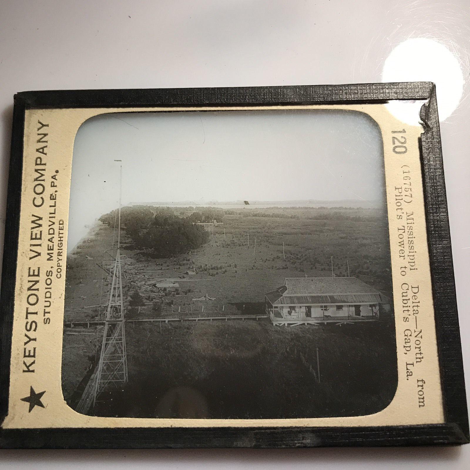 Vtg Keystone Magic Lantern Slide Photo Cubit's Gap Mississippi Delta