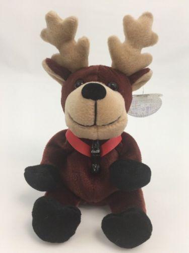 Coca Cola Bean Bag Plush Reindeer Lover Stuffed Animal Stocking Stuffer