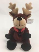 Coca Cola Bean Bag Plush Reindeer Lover Stuffed Animal Stocking Stuffer - $11.76