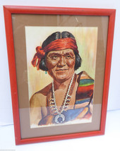Vintage Pro Framed~ Chief Joe Sekakuku Picture ... - $23.75