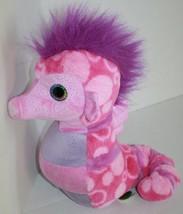 "Wild Republic Plush Stuffed Animal SEA HORSE 12"" Pink Purple Soft Toy K&M 2012 - $16.42"