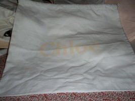 New Large Chloe' 16 x 16  White with Peach Logo Large Dust bag - $19.79