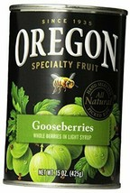 Oregon Fruit Gooseberries, Light Syrup, 15 oz (Pack of 8) Gooseberries - $42.49